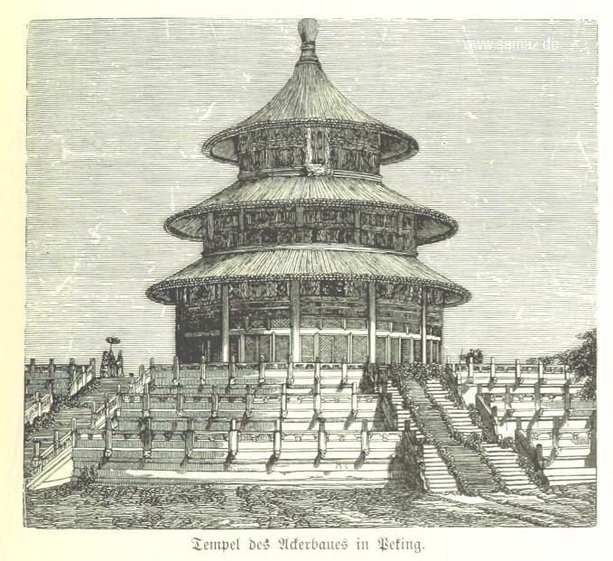 Erntehalle des Himmeltempels um 1899