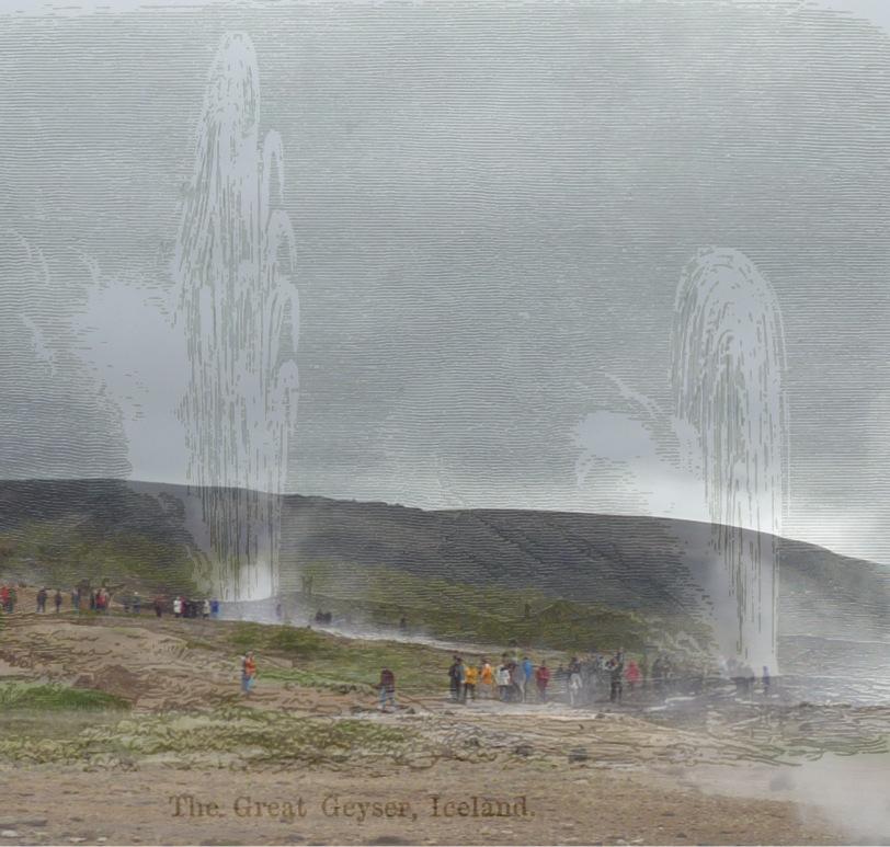 Iceland, Geysir - mashup