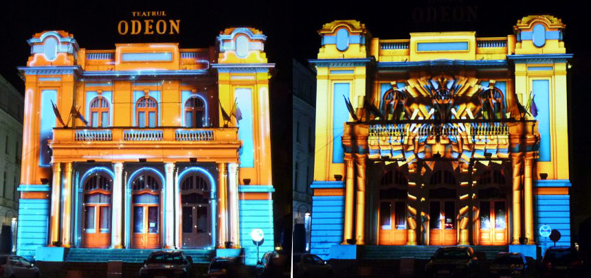 teatrul_odeon_illumated_bucharest_two_states