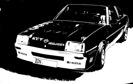 opel_manta_black_and_white