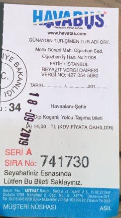 Ticket Havabus Istanbul