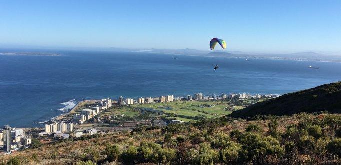 Foto Aussicht auf Sea Point und Robben Island, Cape Town