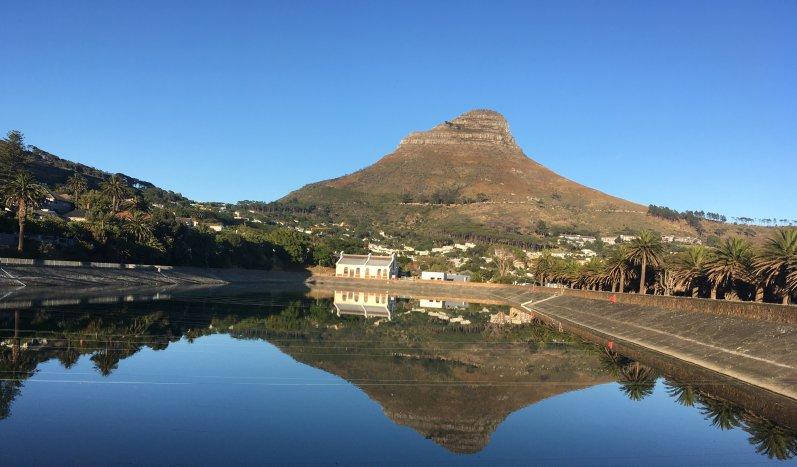 Molteno Reservoir - Kapstadt mit Blick auf den Lion's Head